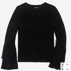 Jcrew Ruffle-sleeve pullover sweater